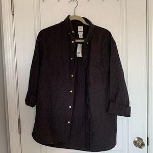 NWT charcoal h&m men's shirt M